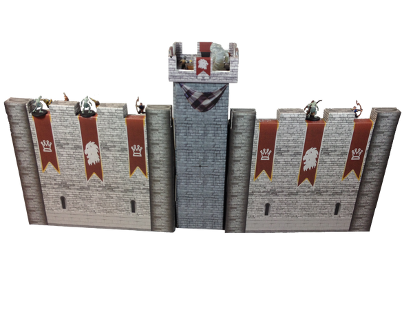 Castle Keep Dice Tower, 2 Castle Wall DM Screens with Magnetic Initiative Turn Tracker