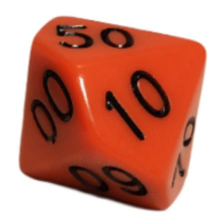 Opaque Red w/ Black Numbers