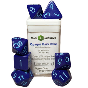 Opaque Dark Blue w/ Lt Blue Numbers