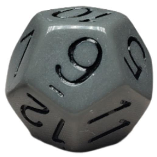 Opaque Dark Gray w/ Black Numbers