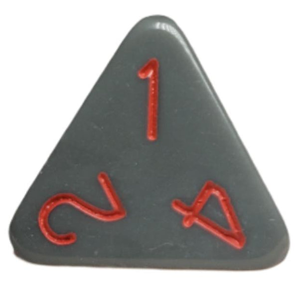 Opaque Dark Gray w/ Red Numbers