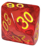 Translucent Red w/ Gold Numbers