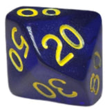 Translucent Dark Blue w/ Gold Numbers