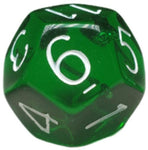Translucent Dark Green w/ White Numbers