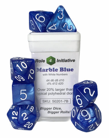 Marble Blue  w/ White Numbers