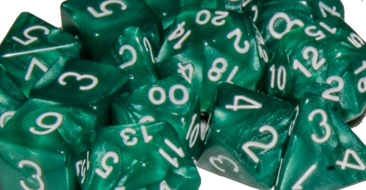 Marble Green w/ White Numbers