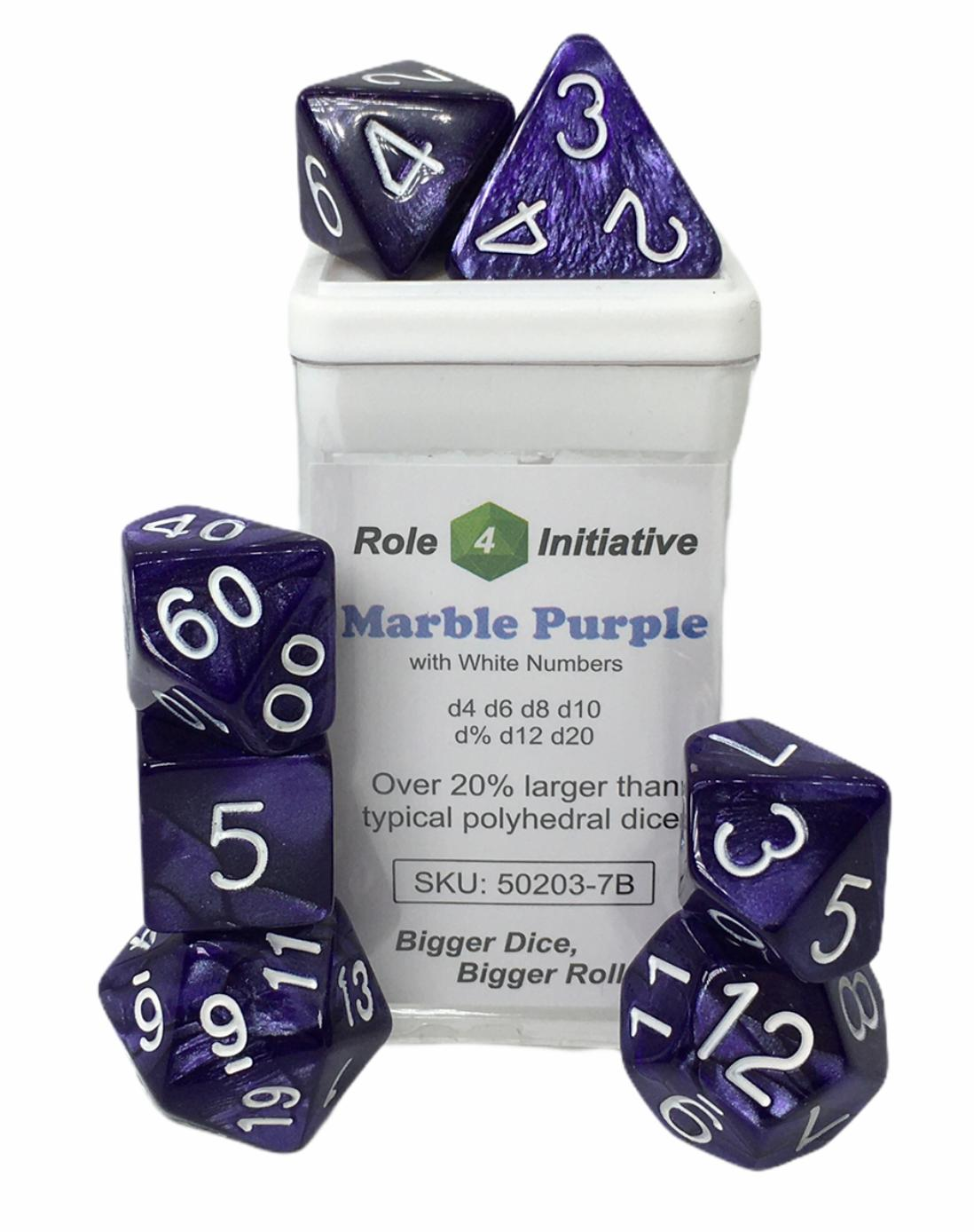 Marble Purple w/ White Numbers