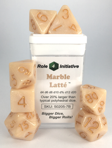 Marble Latte with Metallic Gold Numbers