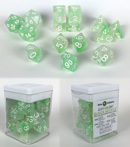 Set of 15 large high-visibility game dice: Diffusion Elven Spirits w/ White Nums
