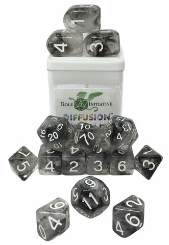Set of 15 large high-visibility game dice: Diffusion Wraith w/ Arch'd4