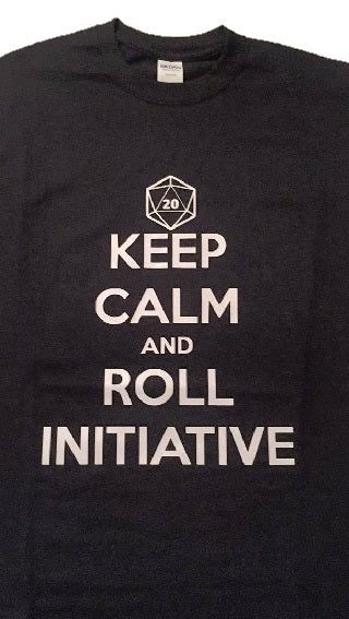 T-Shirt: Keep Calm and Roll Initiative