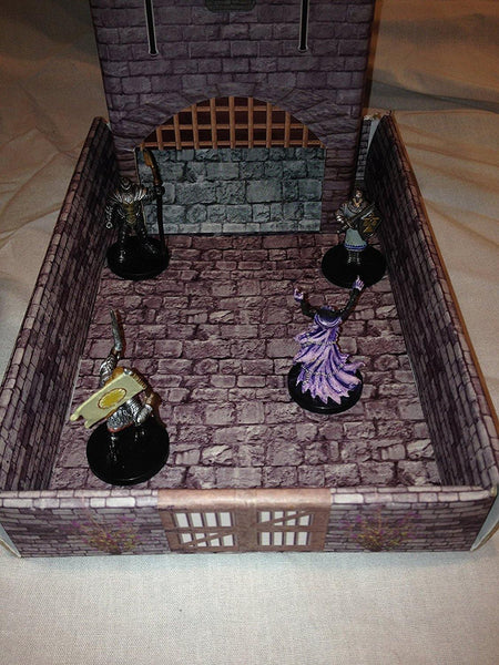 Castle Keep Dice Tower with Magnetic Initiative Turn Tracker