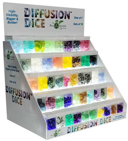 Light-Up Five-Shelf Point-Of-Sale Dice Display