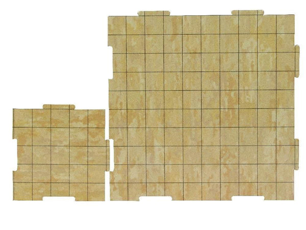 "Dry Erase Dungeon Tiles, Earthtone - Pack of 5 10"" and 16 5"" square tiles"