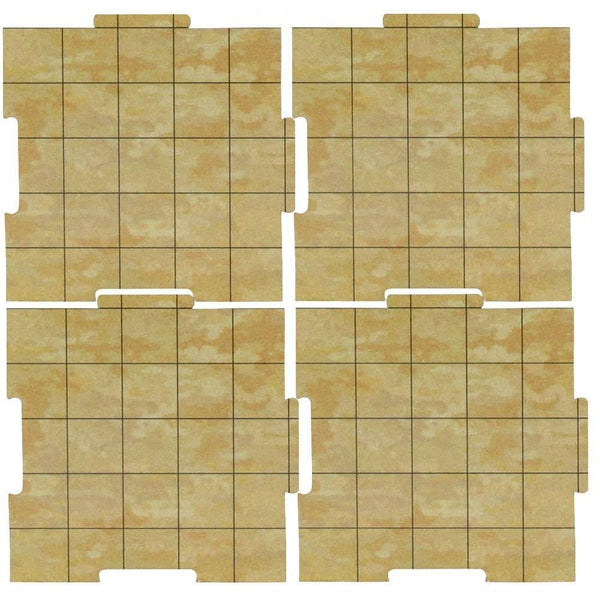 "Dry Erase Dungeon Tiles, Earthtone - Pack of 36 5"" square tiles"