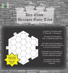 "Dry Erase Dungeon Tiles, White - Pack of 33 6"" hex tiles"