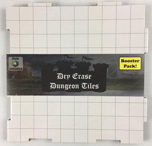 Dry-Erase Dungeon Tiles, White, Booster Pack