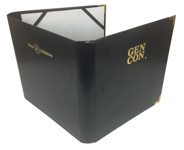 Gen Con branded faux leather DM screen / accessories folder