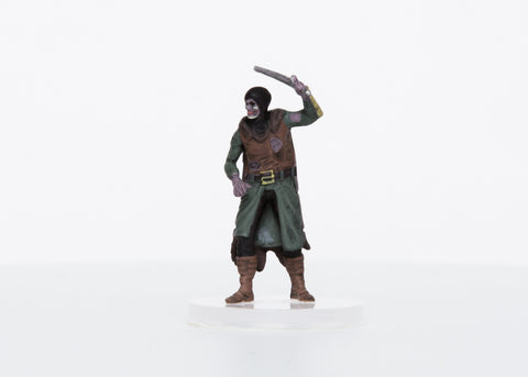 Zombie Male Human Captain - 28mm Plastic Mini