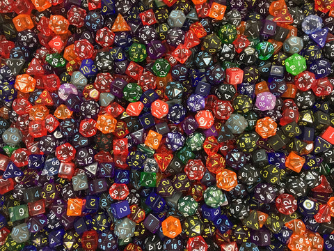 Bulk Dice - Wholesale Priced Factory seconds in assorted colors, shapes, and styles