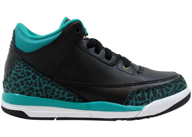 Air Jordan 3 Retro GP Black Metallic Gold Rio Teal (PS)