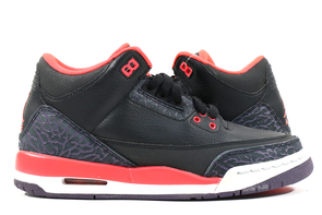 "Air Jordan 3 Retro ""Crimson"" GS Pre-Owned Sz 5.5y"