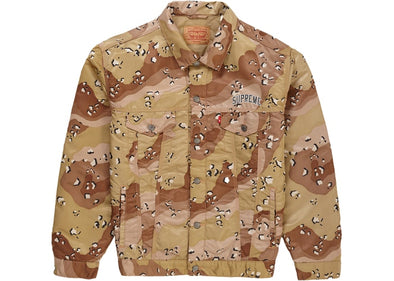 Supreme Levi's Nylon Trucker Jacket Chocolate Chip Camo