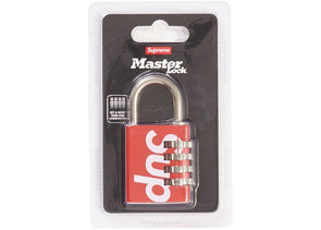 Supreme Masterlock Numeric Lock Red