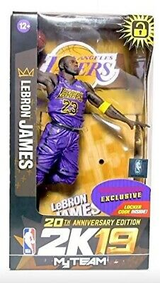 LeBron James NTWRK Exclusive 2K19 Mcfarlane Action Figure NBA Purple Jersey #23
