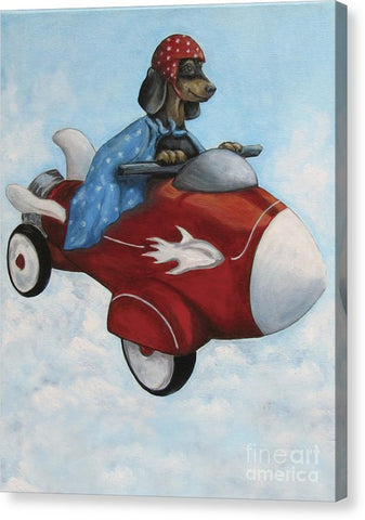 Elvis Flies For K9 Air - Canvas Print