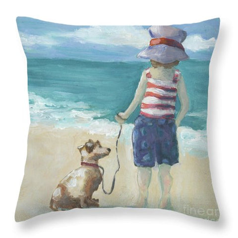 Walk The Dog - Throw Pillow