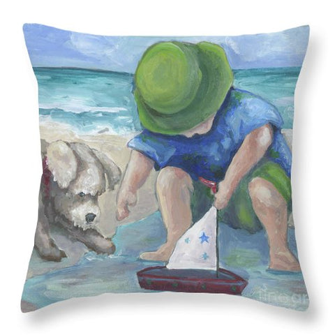 A Tall Ship - Throw Pillow