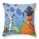 Bubbles - Throw Pillow