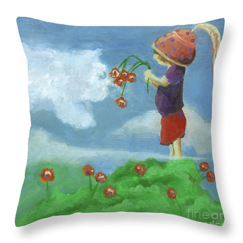Head In The Clouds - Throw Pillow