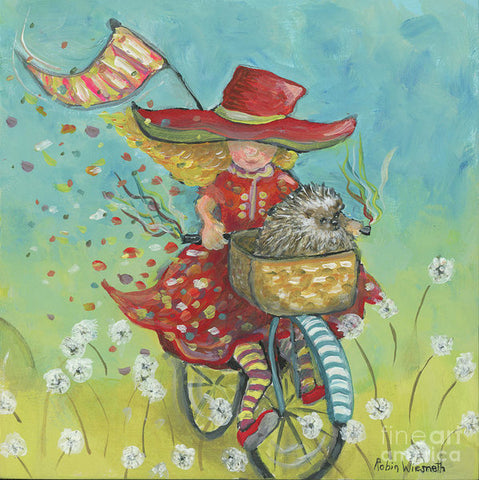 Hedgehogs And Dandelions - Art Print