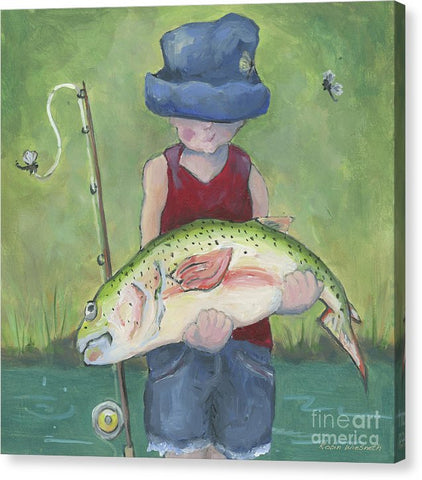 Pocket Fisherman - Canvas Print