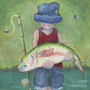 Pocket Fisherman - Art Print