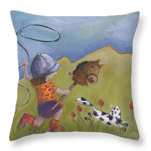 Rodeo Girl - Throw Pillow