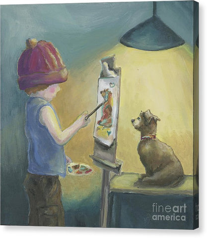 Tiny Artist - Canvas Print