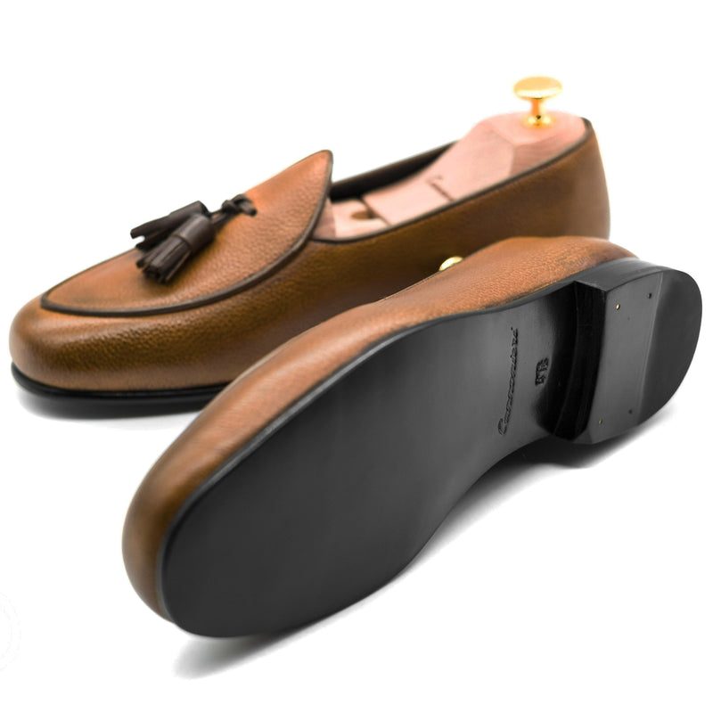 Cognac Tasseled - Parma slipper