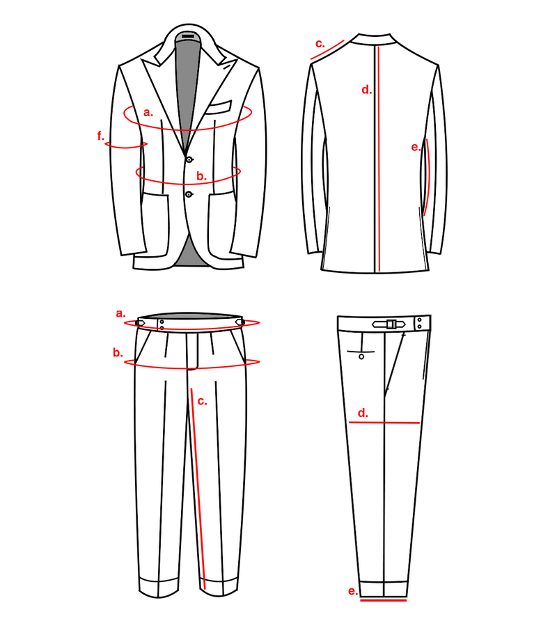 SUIT MADE TO MEASURE CODES 400-500