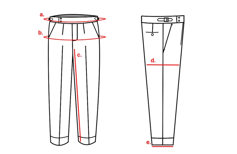 TROUSER MADE TO MEASURE CODES 520-600