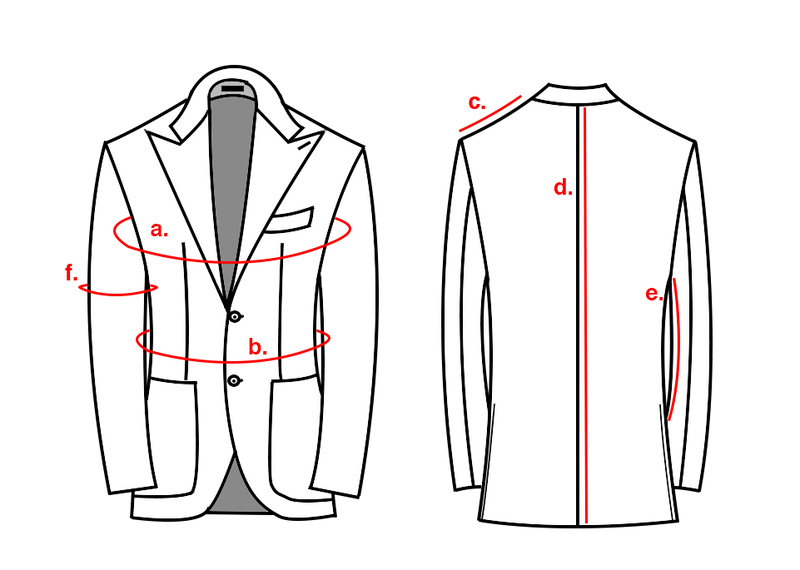 JACKET MADE TO MEASURE CODES 620-700