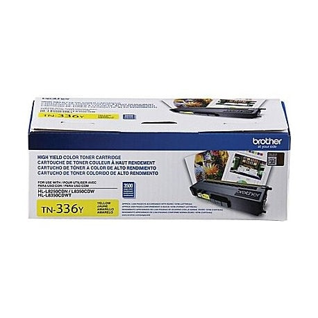 TN336Y - Cartouche Laser originale Brother TN336 - Jaune - 3500 pages à 5% de couverture de page - Kartouche Plus
