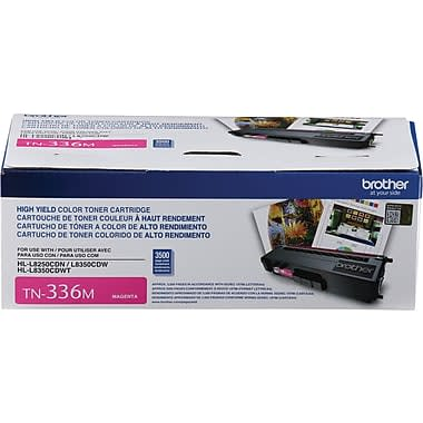 TN336M - Cartouche Laser originale Brother TN336 - magenta - 3500 pages à 5% de couverture de page - Kartouche Plus