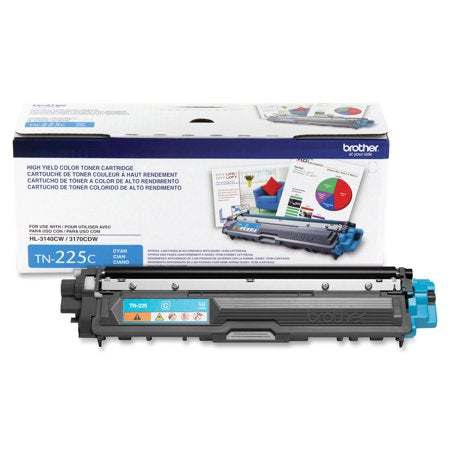 TN225C- Cartouche laser originale Brother TN225C - Cyan - 2 200 pages à 5% de couverture de page - Kartouche Plus