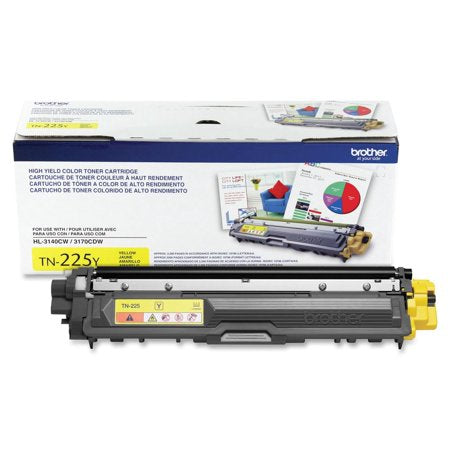 TN225Y - Cartouche laser originale Brother TN225Y - Jaune - 2 200 pages à 5% de couverture de page - Kartouche Plus