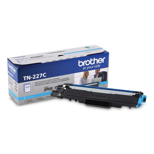 TN227C - Cartouche laser originale Brother TN227C - Cyan - 2300 pages à 5% de couverture de page - Kartouche Plus