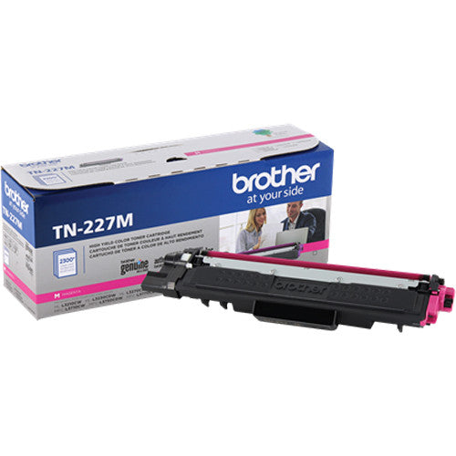 TN227M - Cartouche laser originale Brother TN227M - Magenta - 2300 pages à 5% de couverture de page - Kartouche Plus
