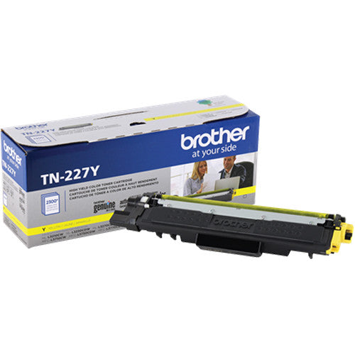 TN227Y - Cartouche laser originale Brother TN227Y - Jaune - 2300 pages à 5% de couverture de page - Kartouche Plus